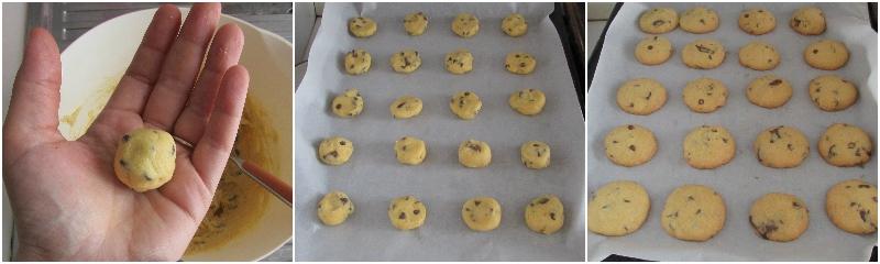 cookies senza glutine con gocce di cioccolato ricetta con farine naturali glutenfree di riso e mais il chicco di mais 4 cuocere i biscotti
