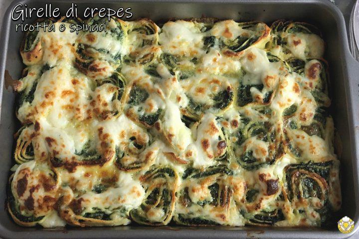 girelle di crepes ricotta e spinaci ricetta facile primo vegetariano scenografico il chicco di mais