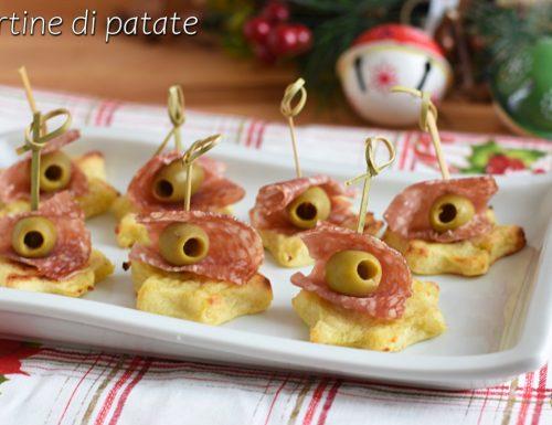 Tartine di patate a stella