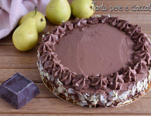 Torta di compleanno pere e cioccolato