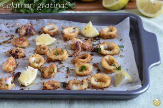 anelli di calamari gratinati al forno morbidi e croccanti ricetta facile e veloce il chicco di mais