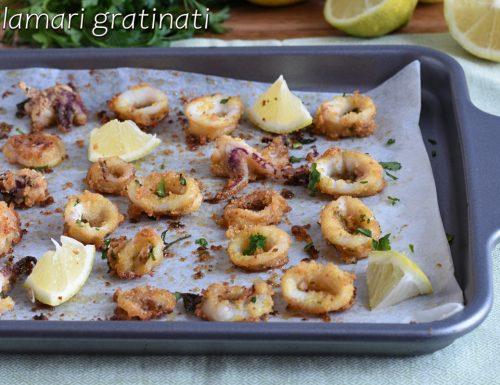 Anelli di calamari gratinati al forno