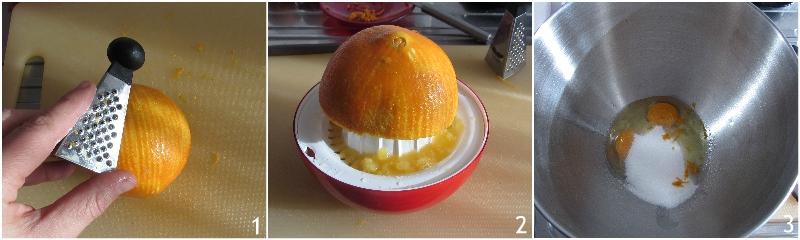 ciambella arancia e cioccolato soffice ricetta dolce di natale versato facile e veloce il chicco di mais 1 spremere arancio
