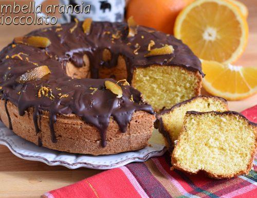 Ciambella arancia e cioccolato