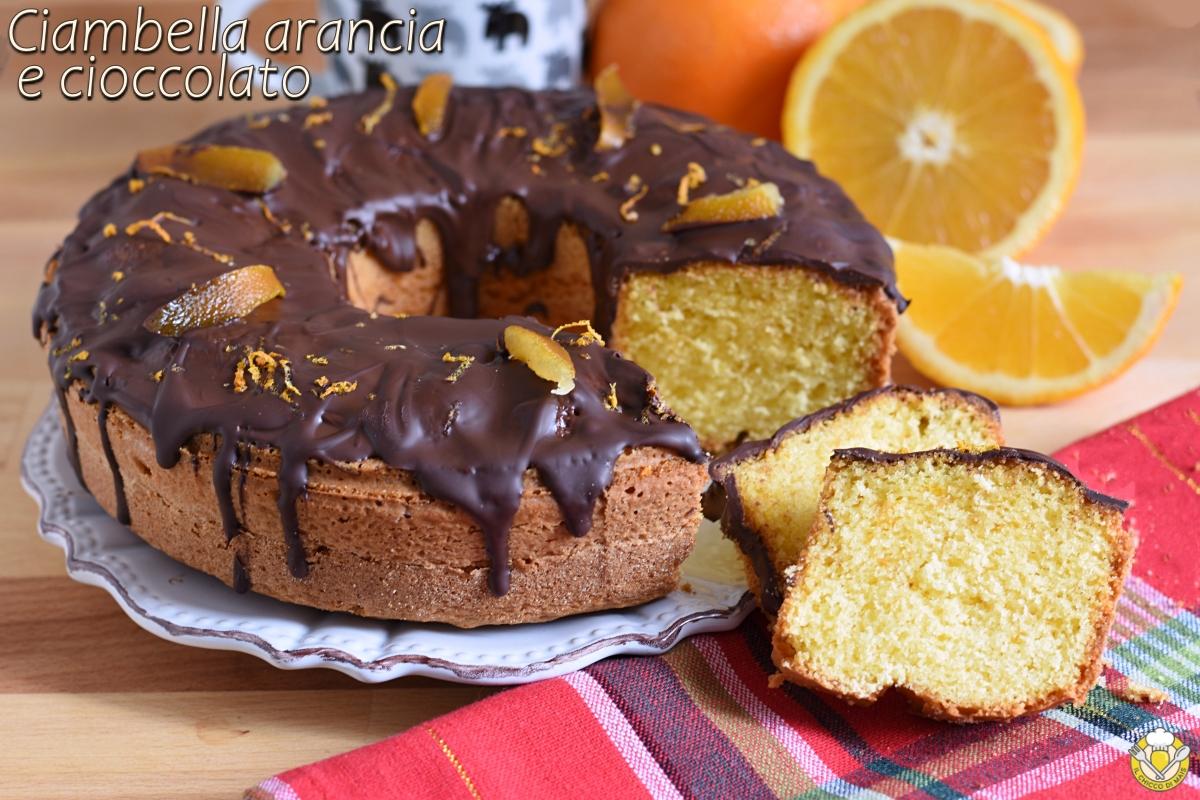 ciambella arancia e cioccolato soffice ricetta dolce di natale versato facile e veloce il chicco di mais