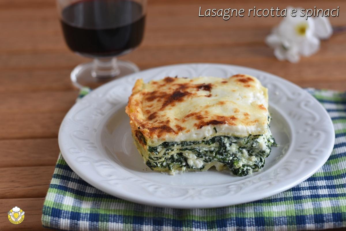 lasagne ricotta e spinaci ricetta vegetariana facile con spinaci surgelati il chicco di mais