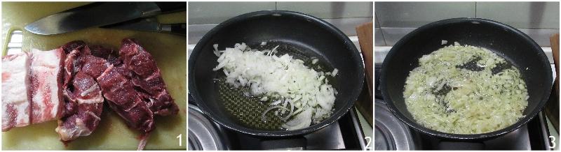 ragù napoletano nella slow cooker ricetta passo passo con carne e costine di maiale il chicco di mais 1 far appassire le cipolle