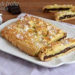 rotolo di frolla al cioccolato con tavoletta avvolta nella pasta frolla ricetta facile e veloce il chicco di mais