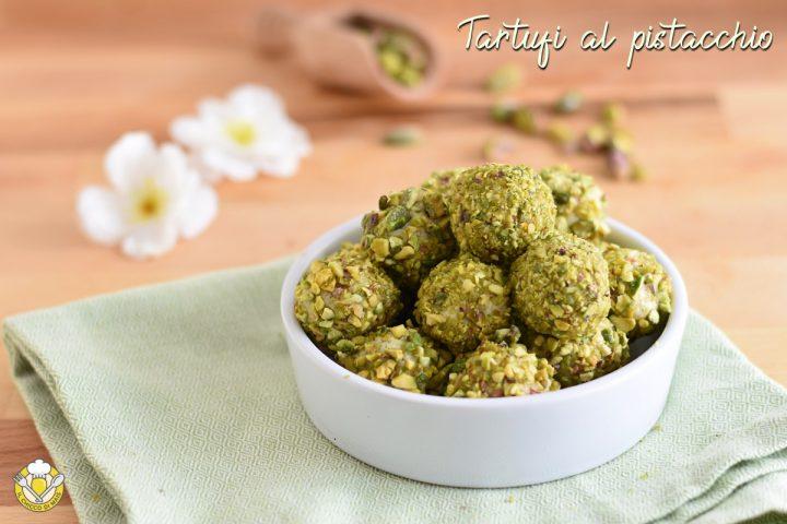 tartufini al pistacchio e cioccolato bianco ricetta palline con ricotta e biscotti secchi il chicco di mais