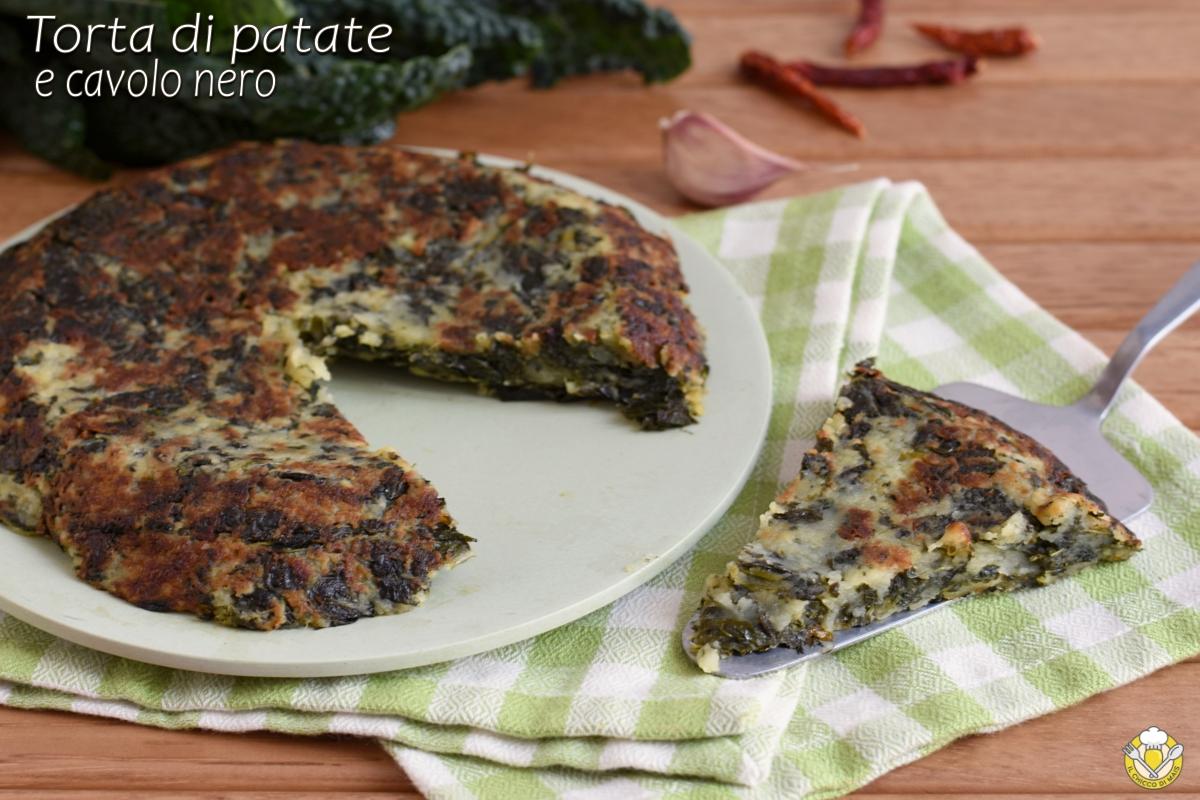 torta di patate e cavolo nero in padella ricetta contorno sfizioso il chicco di mais