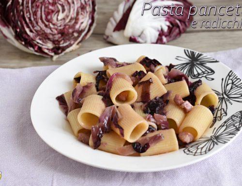 Pasta con pancetta e radicchio