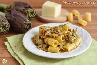 ricette con carciofi carbonara di carciofi cremosa ricetta pasta con carciofi uova guanciale e pecorino il chicco di mais