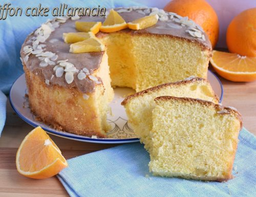 Chiffon cake all'arancia glassata