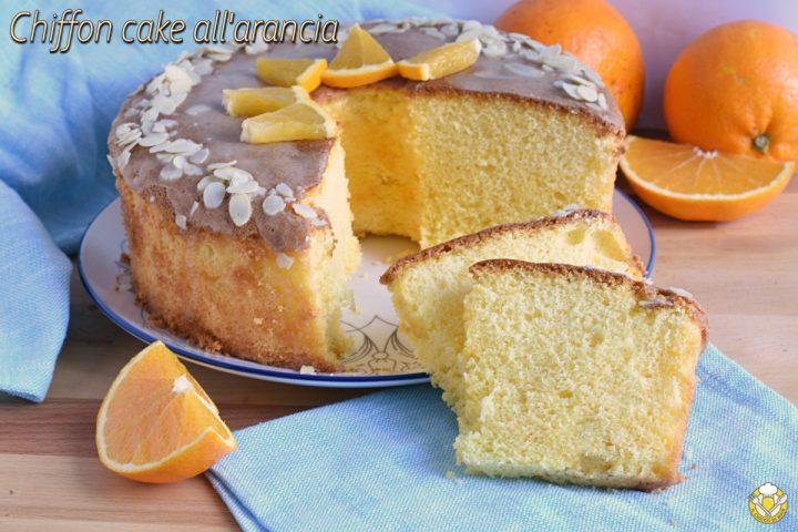 chiffon cake all'arancia glassata ricetta ciambella all'arancia americana sofficissima con glassa facile il chicco di mais