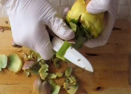 come pulire i carciofi romaneschi mammole violetti cimaroli tutorial con video 10
