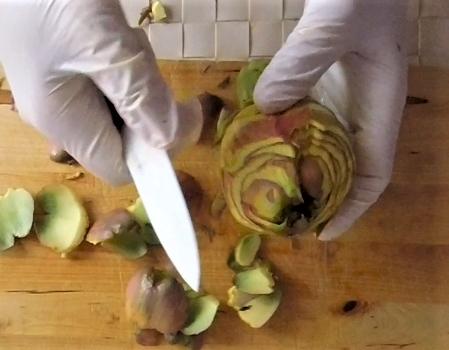 come pulire i carciofi romaneschi mammole violetti cimaroli tutorial con video 8