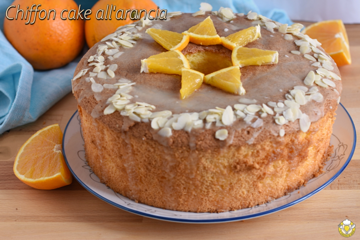 oriz_inter_ chiffon cake all'arancia glassata ricetta ciambella all'arancia americana sofficissima con glassa facile il chicco di mais