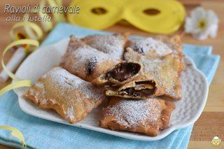dolci di carnevale ravioli di carnevale alla nutella ricetta tradizionale e senza glutine il chicco di mais