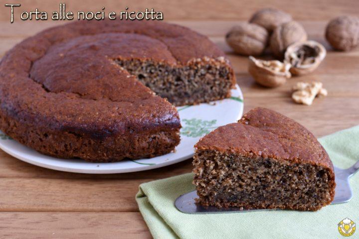 torta morbida alle noci e ricotta ricetta senza farina e senza burro il chicco di mais