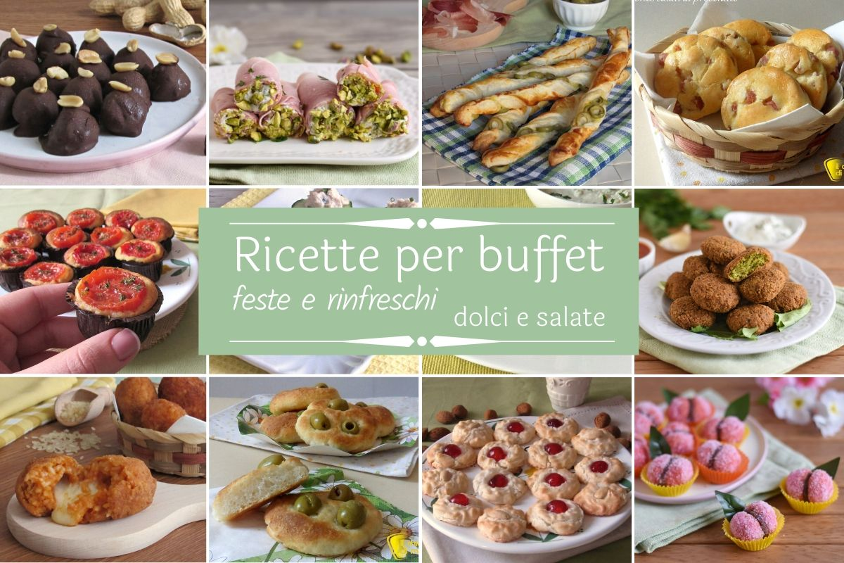 Ricette per buffet feste di compleanno rinfreschi ricevimenti idee fingerfood sfiziose dolci e salate facili e veloci il chicco di mais