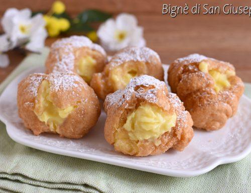 Bignè di San Giuseppe fritti o al forno