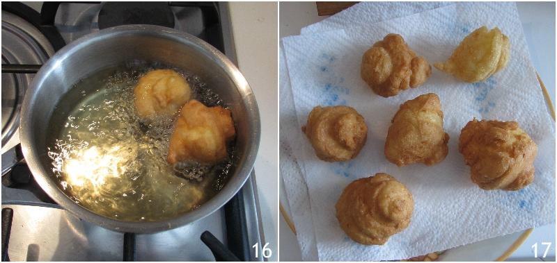 bignè di san giuseppe al forno o fritti ricetta romana dolce per la festa del papà il chicco di mais 7 asciugare i bignè