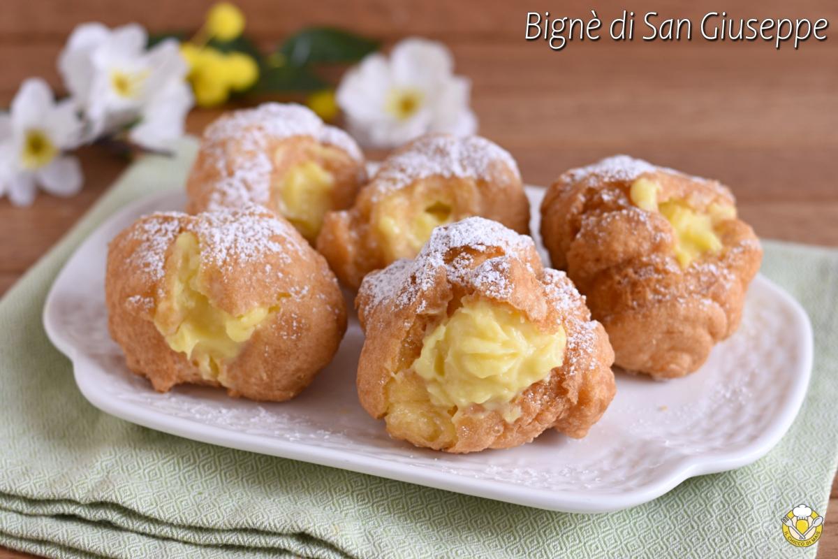 bignè di san giuseppe al forno o fritti ricetta romana dolce per la festa del papà il chicco di mais