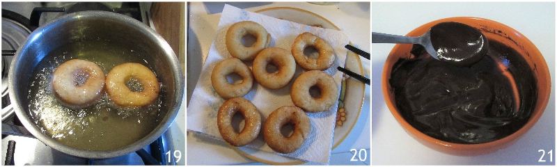 donuts ciambelle americane di homer rosa e al cioccolato ricetta tradizionale e senza glutine passo passo il chicco di mais 7 friggere le ciambelle