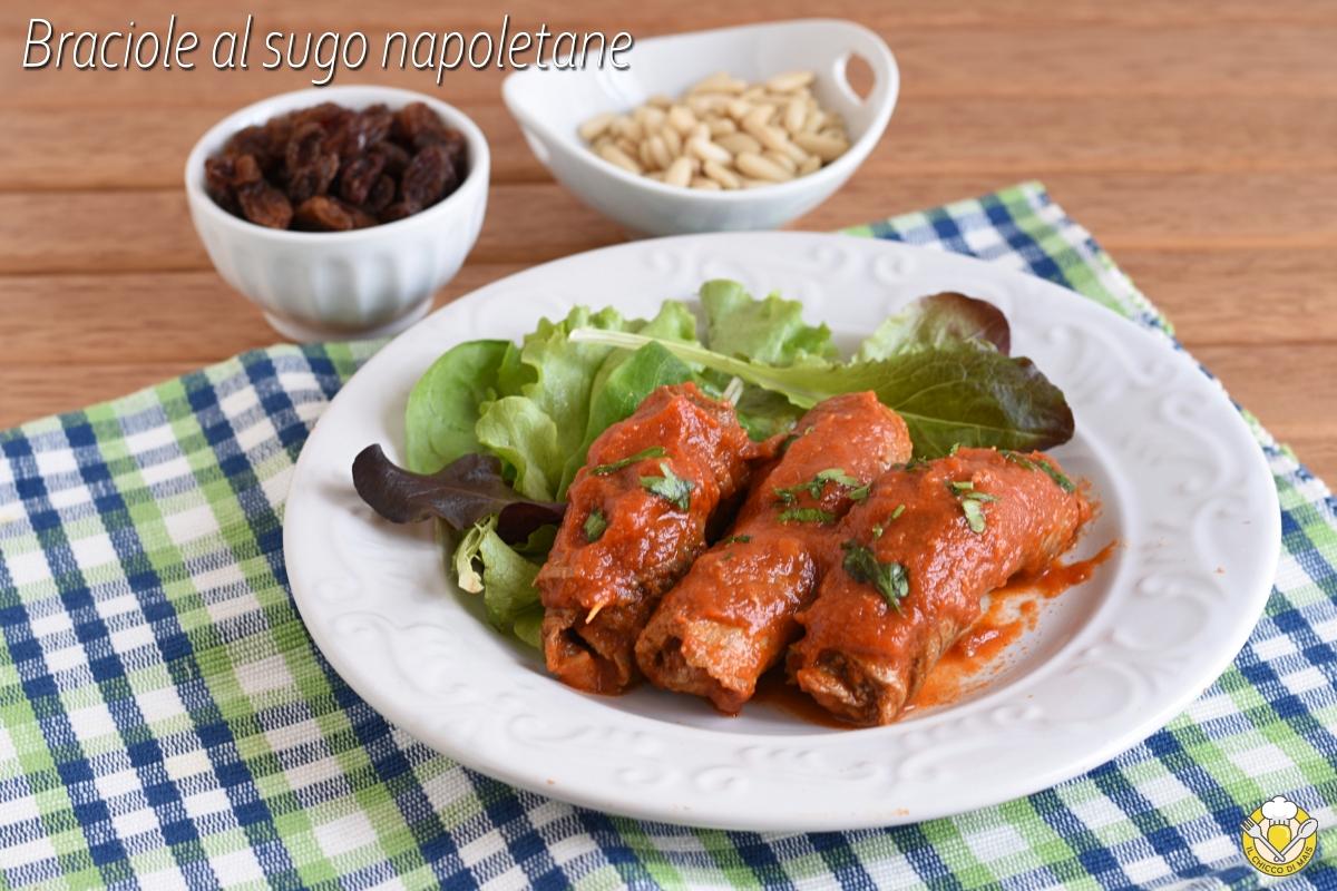 braciole al sugo napoletane ricetta originale involtini napoletani al pomodoro il chicco di mais