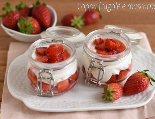 Coppa di fragole e mascarpone