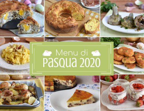 Menu di Pasqua 2020