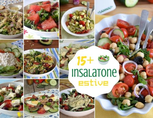 Raccolta di insalatone estive