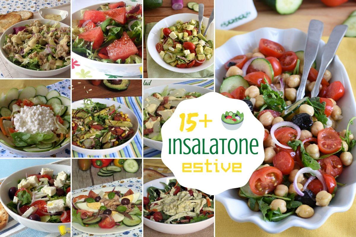 Raccolta di insalatone estive più di 15 ricette di insalate fresche e leggere originali e sfiziose il chicco di mais