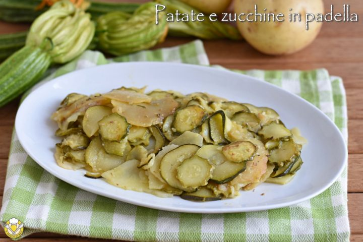 patate e zucchine in padella ricetta contorno saportio facile e veloce il chicco di mais