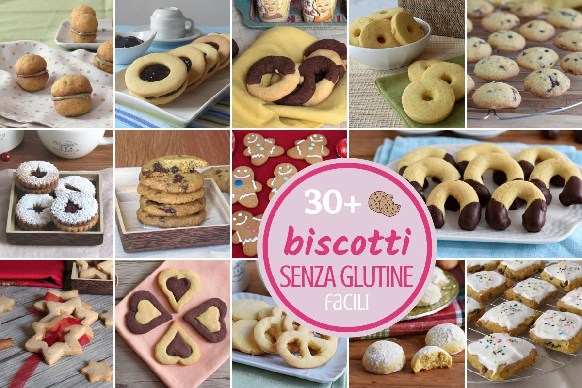 Raccolta di biscotti senza glutine con farine naturali di riso mais mandorle più di 30 ricette di biscotti glutenfree facili con cioccolato farciti per Natale il chicco di mais