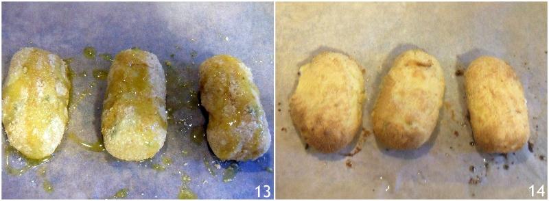 crocchette di patate con mozzarella al forno o fritte con il trucco per non farle aprire in cottura il chicco di mais 5 cuocere le crocchette al forno