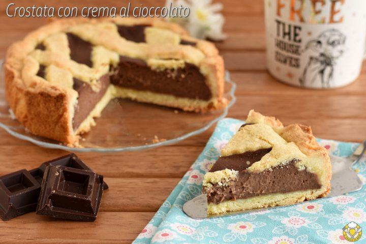 crostata con crema al cioccolato ricetta facile crostata di frolla alta e ricca di crema pasticcera al cioccolato il chicco di mais