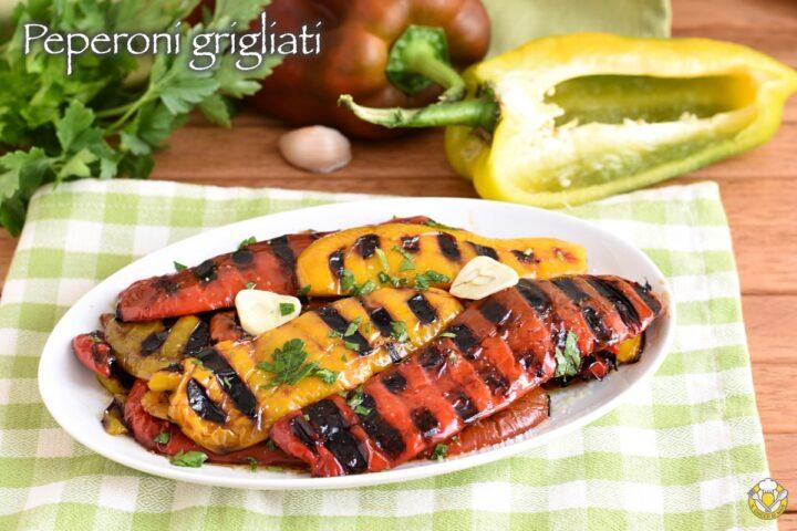 peperoni grigliati conditi con olio aglio prezzemolo ricetta contorno estivo facile il chicco di mais