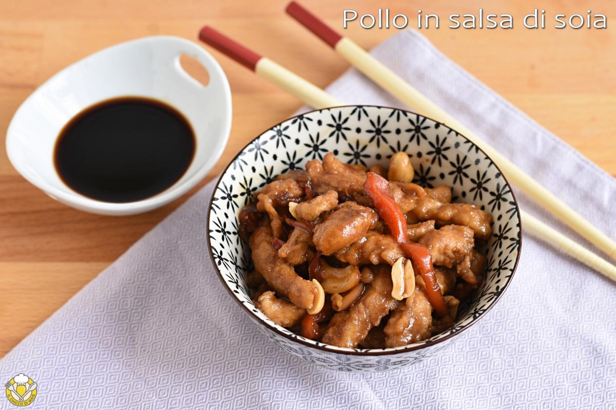 pollo in salsa di soia alla cinese ricetta agrodolce con peperoni e arachidi o anacardi il chicco di mais