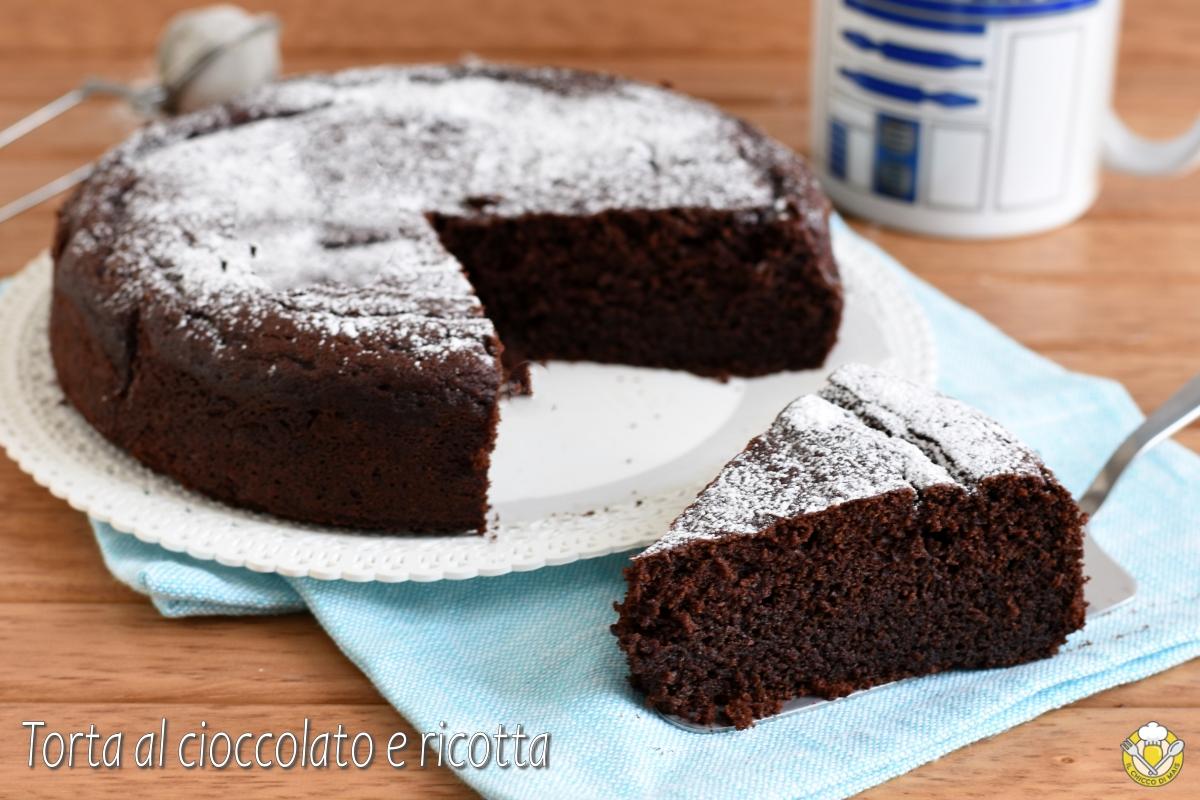 torta al cioccolato e ricotta che si scioglie in bocca ricetta dolce morbido e umido al cacao e ricotta senza glutine il chicco di mais