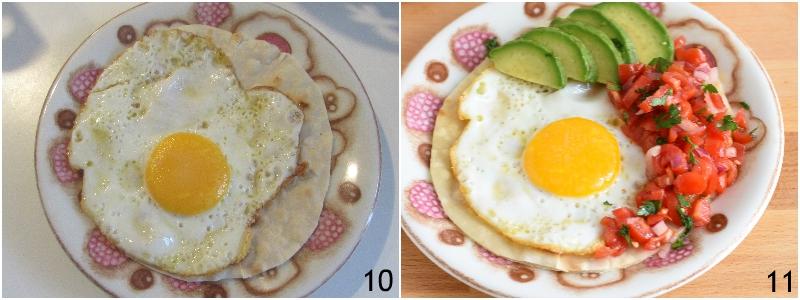 Uova alla messicana huevos rancheros ricetta colazione messicana con tortilla pomodori freschi e avocado il chicco di mais 5 completare il piatto