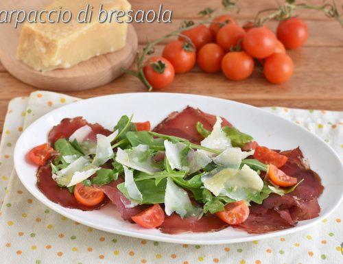 Carpaccio di bresaola con rucola e parmigiano