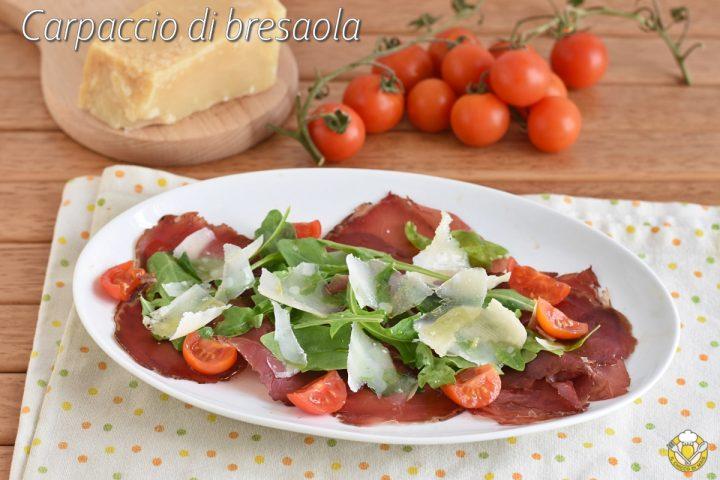 carpaccio di bresaola con rucola e parmigiano ricetta antipasto freddo veloce in 10 minuti il chicco di mais