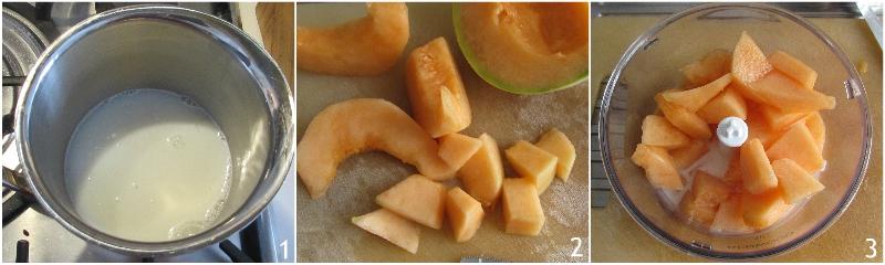 gelato al melone con panna e latte cremoso con la gelatiera ricetta facile e veloce il chicco di mais 1 frullare il melone