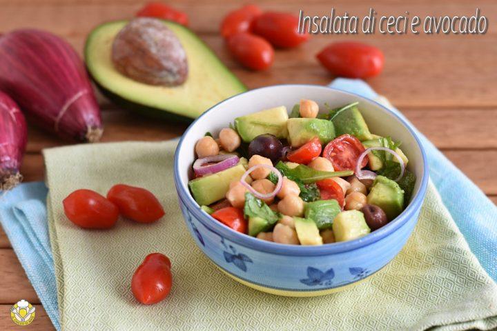 insalata di ceci e avocado ricetta light estiva antipasto o secondo il chicco di mais