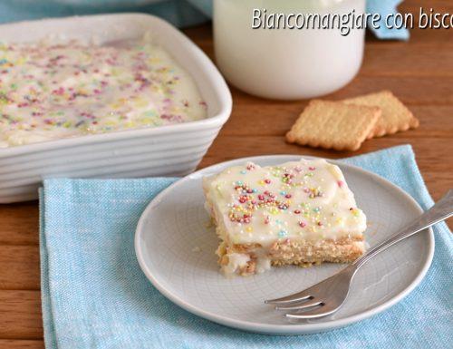 Biancomangiare con i biscotti