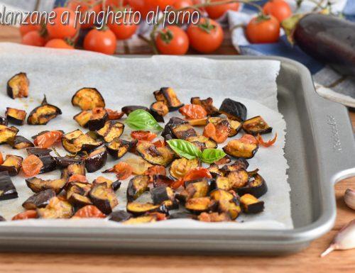 Melanzane a funghetto al forno