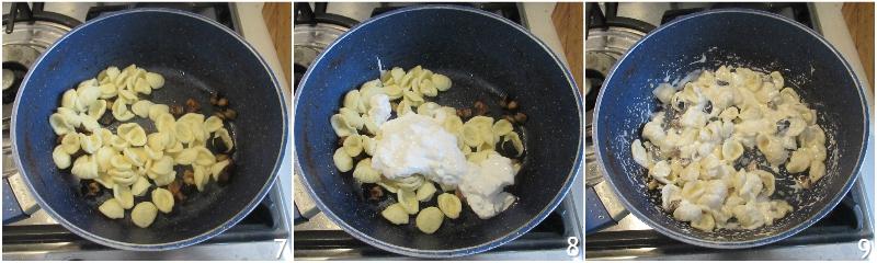 pasta con burrata e melanzane ricetta orecchiette cremose senza pomodoro il chicco di mais 3 mantecare pasta con stracciatella