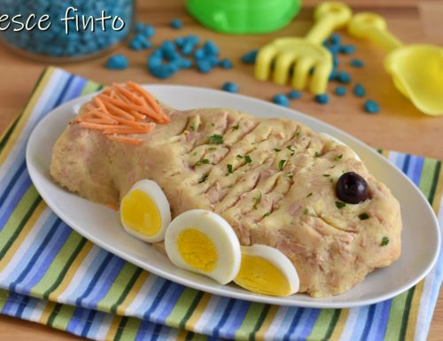 Pesce finto di tonno e patate