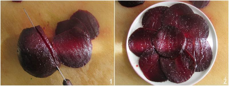 carpaccio di barbabietola con limone grana e pinoli ricetta secondo sano leggero vegetariano il chicco di mais 1 affettare le rape rosse